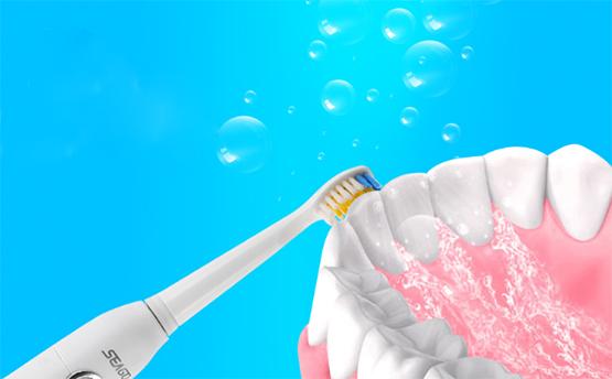 Чистки зубов зубной щеткой Seago