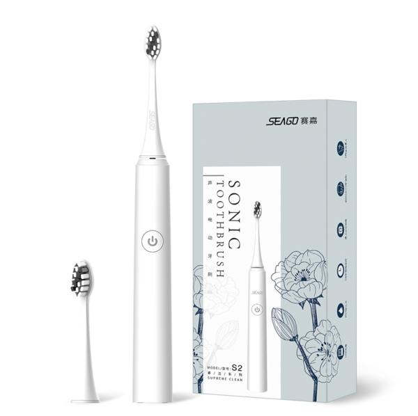 Электрическая звуковая зубная щетка Seago Sonic SG972-D, White (K1010050249)