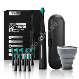 Звукова зубна щітка Seago SG-958 з підставкою та кейсом, Black